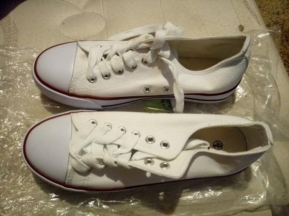 Vendo Zapatos Deportivos Blancos De Mujer Talla 37 Nuevos