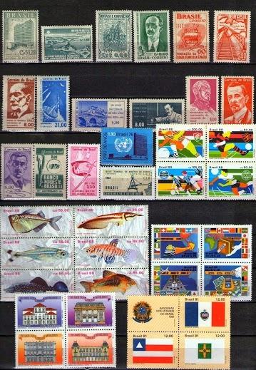 Brasil - 171 Selos Novos, Diferentes Absolutamente Novos