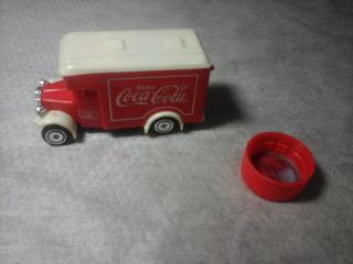 Mini Caminhão Coca Cola Vermelho E Tampinha