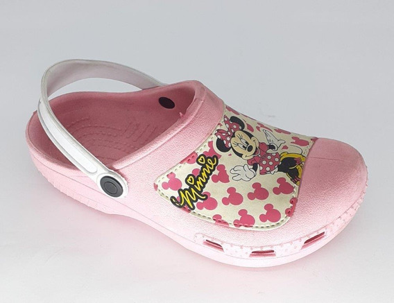 Crocs Infantil Minnie Rosa