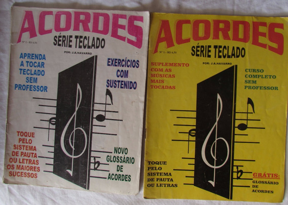 Lote Com 2 Revistas Antigas Acordes Serie Teclado - A73