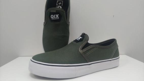 Tênis Qix Slim Vulcan -verde Musgo (b)
