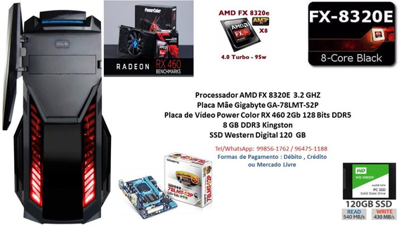 Pc Gamer Octacore Amd Fx 8320e 8gb Rx 460 2gb