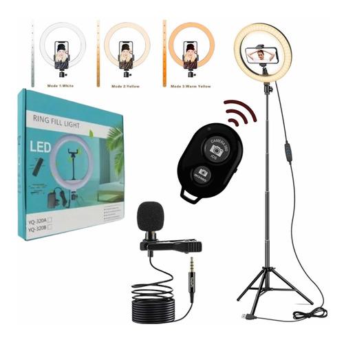 Aro Led 30cm+ Trípode 2.10m+ Control Bluetooth+ Solapero