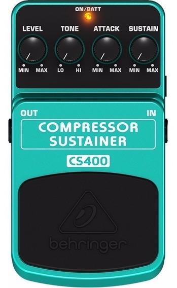 Pedal Compressor Sustainer Behringer Cs400 Baixo Guitarra