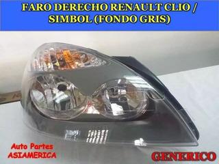Faro Derecho Renault Clio Symbol Fondo Gris (manual)