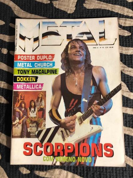 Metal Church 43 Scorpions Metálica Dokken Rush Tony Walock