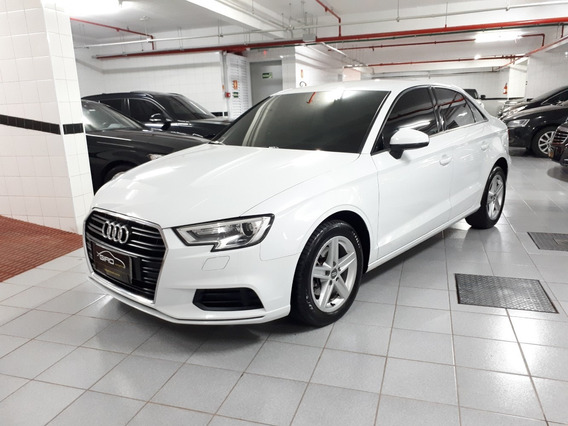 Audi A3 1.4 Attraction Turbo Flex 2018 Branca Único Dono
