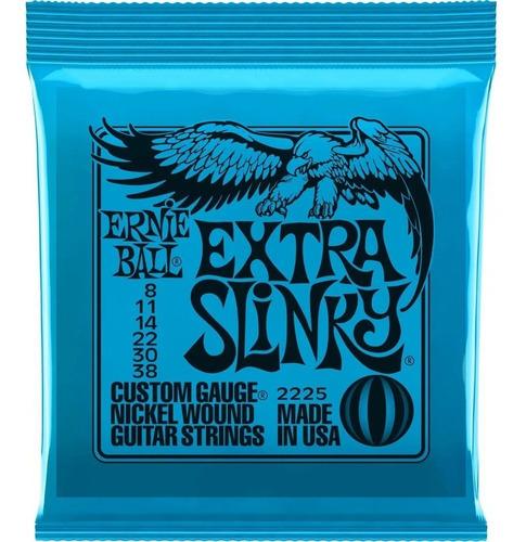 Encordoamento Ernie Ball 0.08/.038 Extra Slinky Usa C/ Nf-e