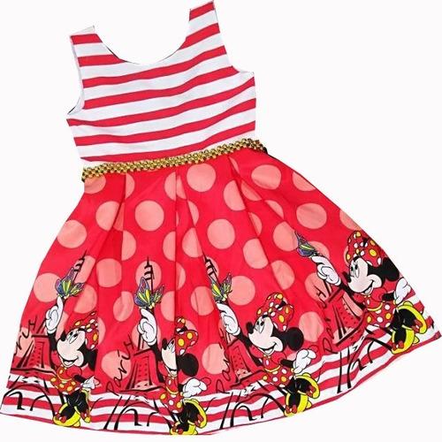 Imagen 1 de 7 de Vestido De Cumpleaños Para Niña Minnie Mouse - Ig