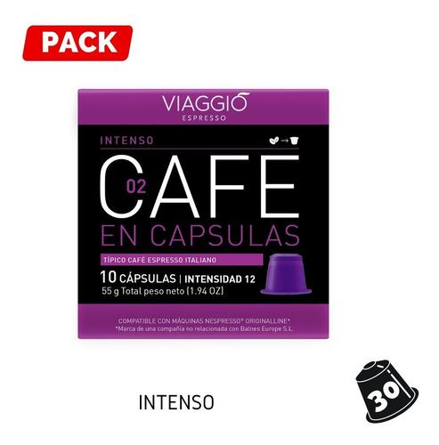 Pack 30 Cápsulas Café Viaggio Intenso Para Nespresso®