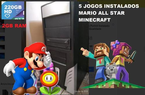 Cpu Dual Cor Com 220gb + Minecraft Instalado