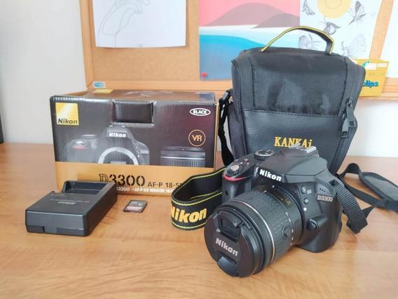 Nikon D3300 + Lente 18-55mm + Bolsa + Cartão Microsd 32 Gb