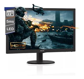 Monitor Philips Gamer 22 Pulgadas 223v5lhsb2/55 Led Hdmi Vga