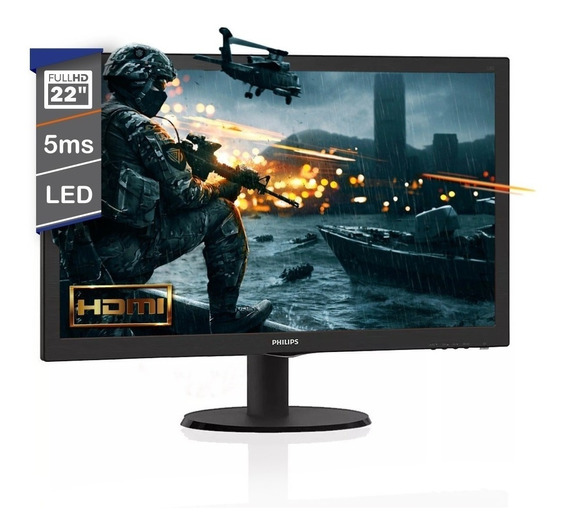Monitor Philips Gamer 22 Pulgadas 223v5lhsb2/55 Led Hdmi Vga