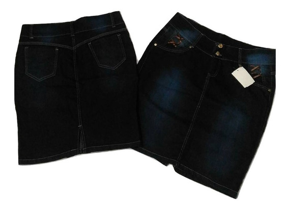 Kit 4 Saia Jeans Bengalim Feminina Minima Adulta Verão