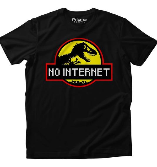 Playera Dino No Internet Dinosauro Jurásico