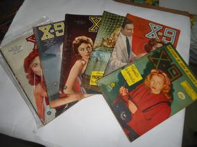 Lote Com 80 Revistas X-9 Terror, Suspense, Mistério X9