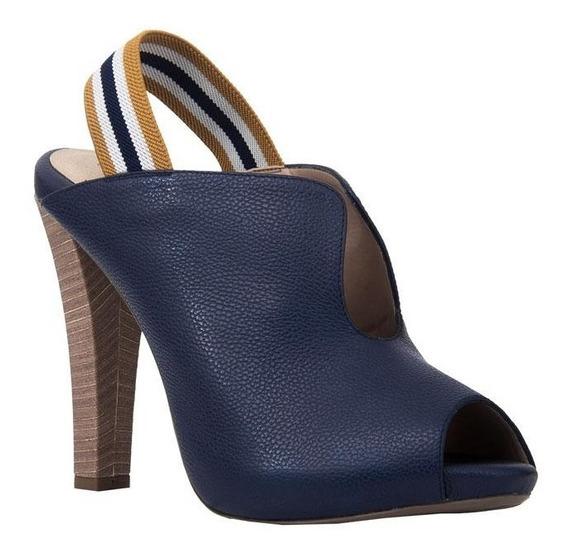 Tacón Para Mujer Azul Carolina Cruz / M-1678