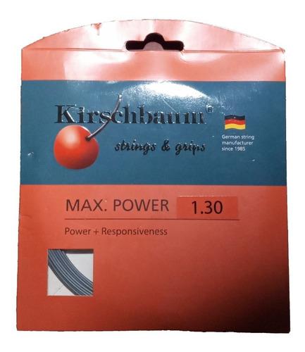 Cuerda Tenis Kirschbaum Max Power 1.30 Mm (16)  12 M