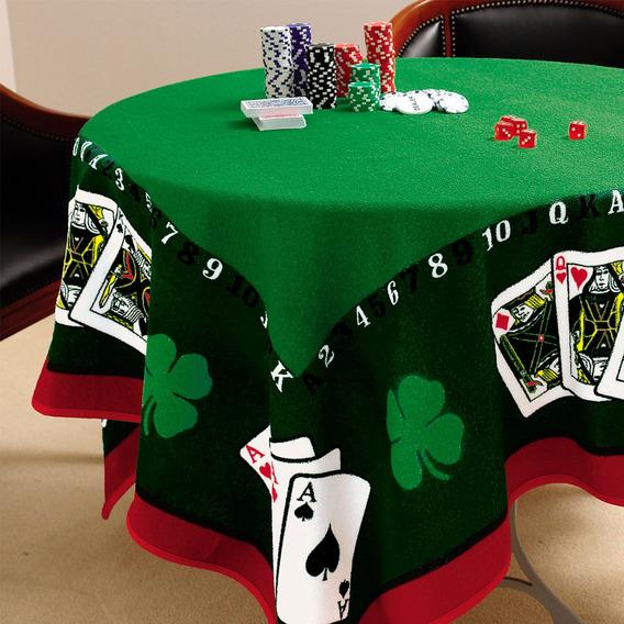 Toalha Mesa Algodão Joker Domino Baralho Poker Truco Lepper