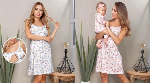 Pijama Primera Muda Mamá Y Bebé Recién Nacido