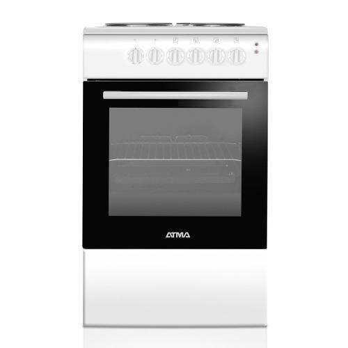 Cocina Electrica Atma Cce 3110b 50cm Blanca Selectogar