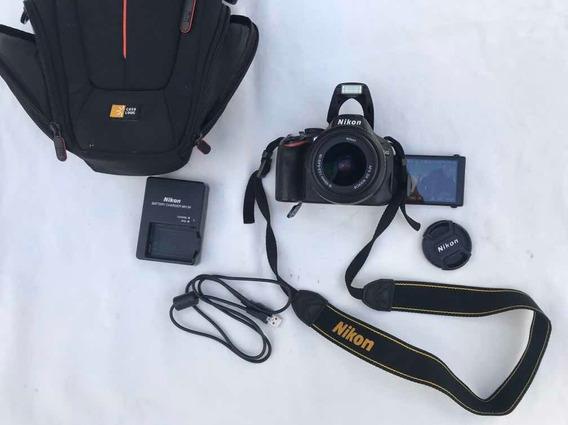 Câmera Nikon D5100 Com Capa, Carregador E Bateria