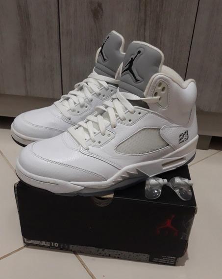 Nike Air Jordan 5 Retro Metallic White Og & Pronta Entrega