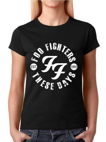 Camisa Baby Look Feminina Rock - Foo Fighters - 100% Algodão