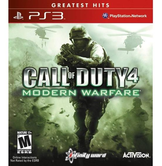 Game Play3 - Call Of Duty 4 Modern Warfare - Semi-novo Ps3