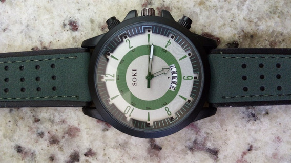 Relógio Masculino Soki Verde