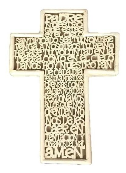 Cruces Padre Nuestro Lote De 30 Primera Comunion Tipo Mdf
