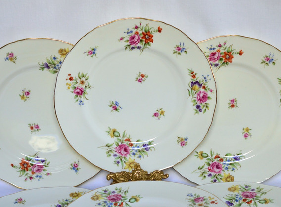 Platos Playos X 6 Royal Worcester Bone China England Abla