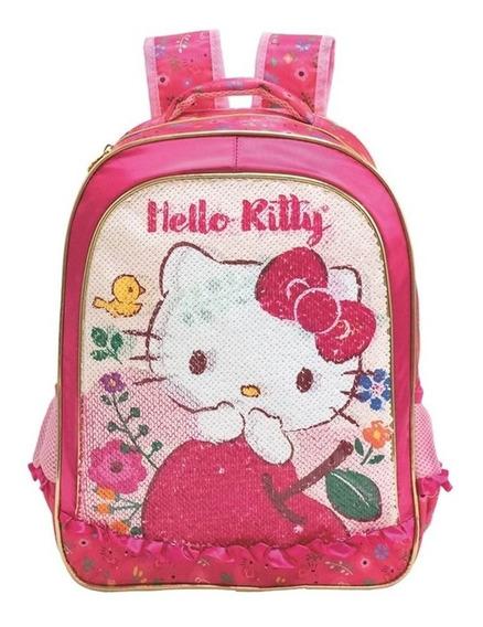 Mochila Hello Kitty Com Lantejoulas G - 8792