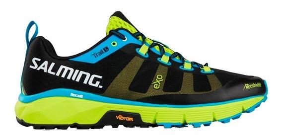 Zapatillas Running Salming Trail 5 Hombre Black Green