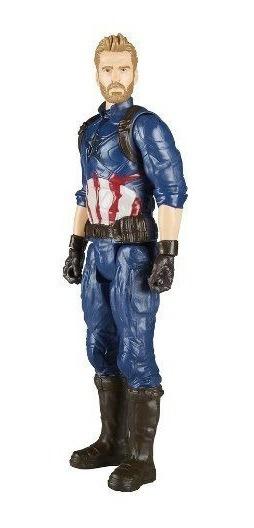 Boneco Capitão America Guerra Infinita Avengers Power Fx