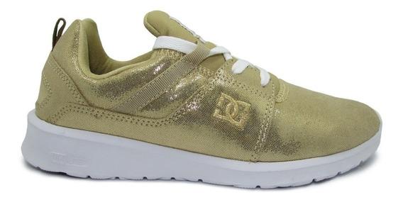 Tenis Dc Shoes Heathrow Se Adjs700022 711 Gold Dorado Piel