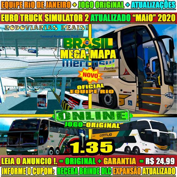 Jogo Euro Truck Simulator 2 Brasil Real Mod Bus Steam Key