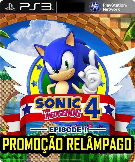 Sonic The Hedgehog 4 Ps3 Jogo Ação Aventura Digital Promoção