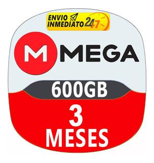 Cuentas Premium Mega 90 Dias 3 Meses Oficial 600gb Mensual