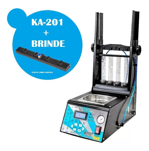 Máquina Teste Limpeza Injetores Gdi-ka201 + Flauta Asiático