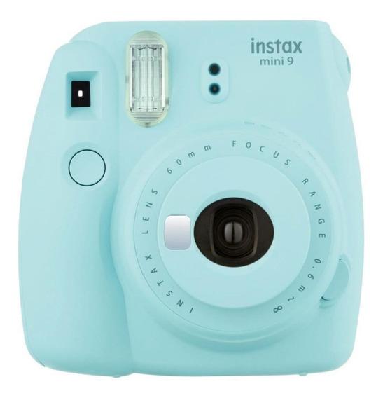 Câmera Fujifilm Instax Mini 9 Azul Gelo + Filme 30 Poses