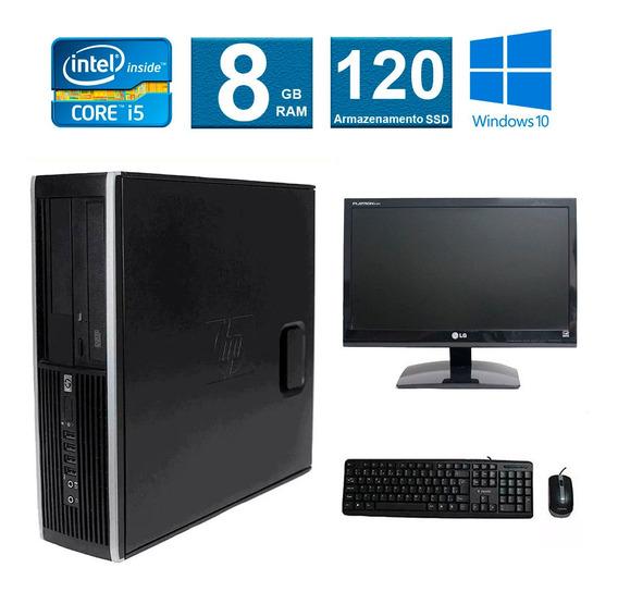 Computador Hp Elite 8200 I5 8gb 120ssd Monitor 19 Polegadas