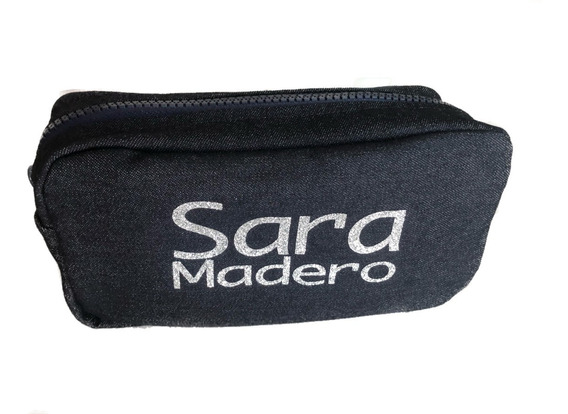 Cosmetiquera Lapecera Bolsa De Viaje Personalizable Mediana Letras Plateadas