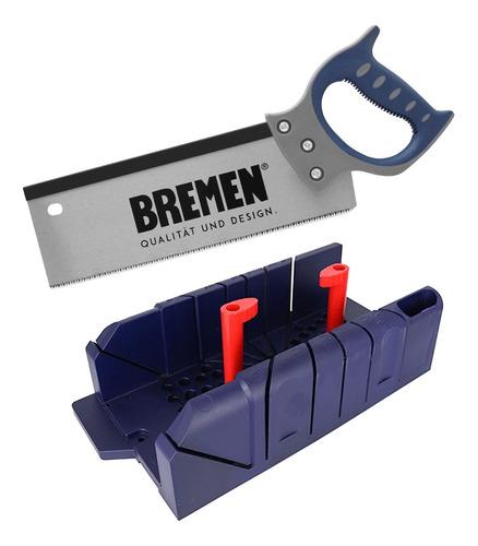 Imagen 1 de 8 de Caja Para Ingletes Bremen 7492 + Serrucho Costilla 3377 Dgm