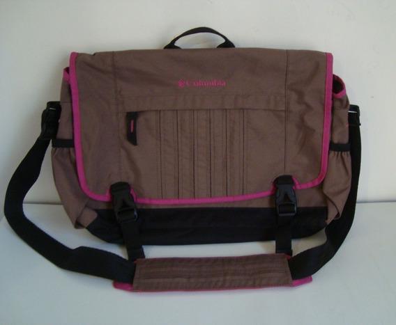Portafolio Mailboy Mochila Columbia Laptop Utiles Con Jareta