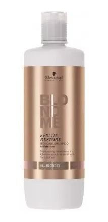 Shampoo Blondme Reparador Con Keratina 1000ml Todos Rubios