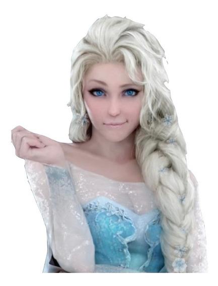 Peluca Frozen - Cotillon Disfraz