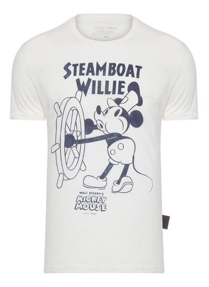 Camiseta Ellus Masculina Light Fine Mickey Streamboat Clasic
